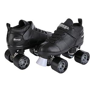 Two black skatesbullet skate