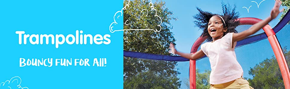 little tikes trampolines;trampolines for kids;childrens trampolines with net