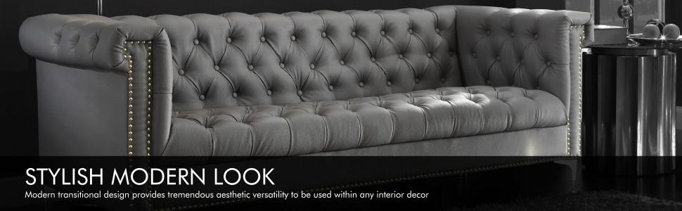 stylish modern look transitional versatility interior decor