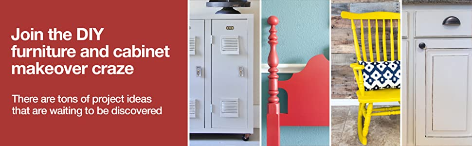 Join the DIY furniture and cabinet makeover craze