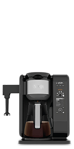 Amazon Com Ninja 12 Cup Programmable Coffee Maker With Classic And Rich Brews 60 Oz Water Reservoir And Thermal Flavor Extraction Ce201 Black Stainless Steel Kitchen Dining