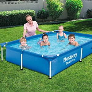 Bestway Splash Jr.Piscina Desmontable Tubular Infantil, 221 x 150 ...