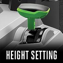EGO, height setting