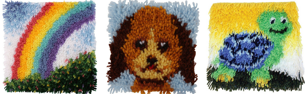 Amazon.com: Kit de alfombra de nudos con diseño de ...