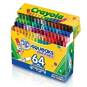 crayola markers, crayola pip squeaks, crayola pip squeaks markers, fine line, washable markers