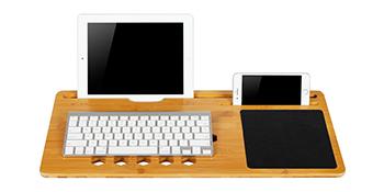 lapgear, lap desk, lapdesk, bamboo, bamboard, media slot, mouse pad, tablet, smartphone, laptop