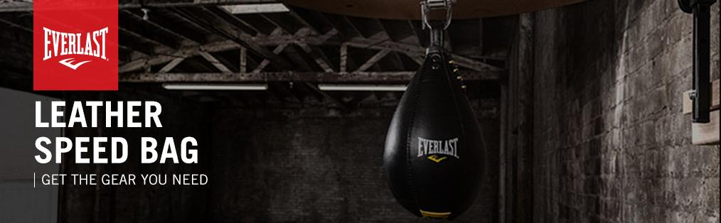 Everlast Leather Elite Speed Bag Boxing MMA Workout Punching Training Fitness L