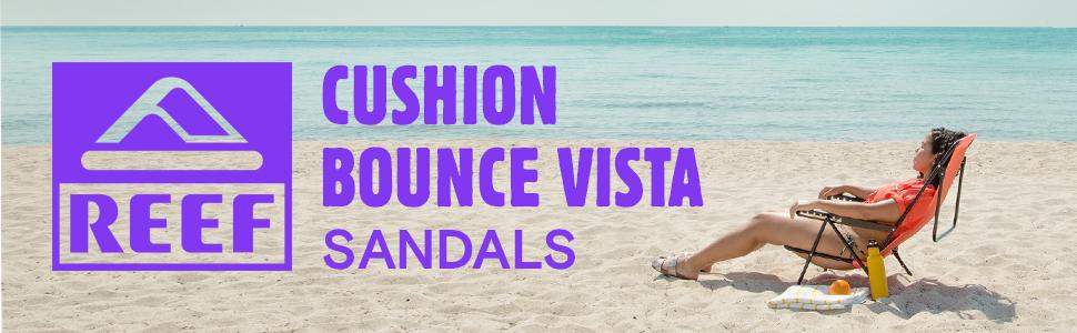a4092afc0988 Reef Women s Cushion Bounce Sandals Beach Freely Comfort