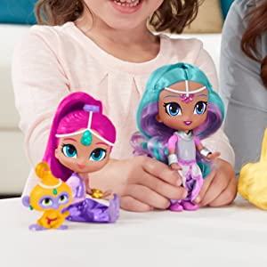 New FISHER-PRICE Shimmer /& Shine Rainbow Zahramay Shine Doll 3 Years /& Up FHN26