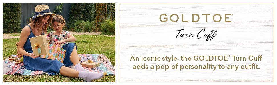 GOLDTOE Turncuff; women socks