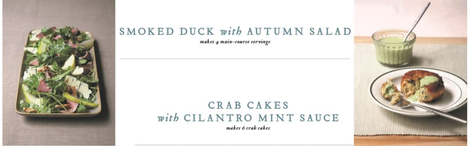 Smoked duck and Crab cakes