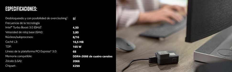 Procesador Intel Core i7 9800X
