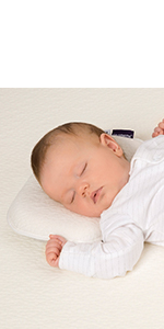 Prevent Flat Head Syndrome, ClevaMama ClevaFoam Baby Pillow for Newborn