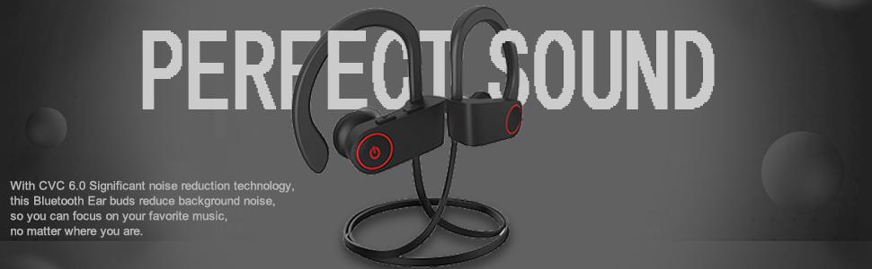 Bluetooth Headphones, Bluetooth Earbuds Best Wireless Sports Earphones w/Mic Waterproof Stereo