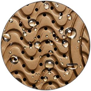 Suela impermeable gracias a la membrana microporosa transpirable.