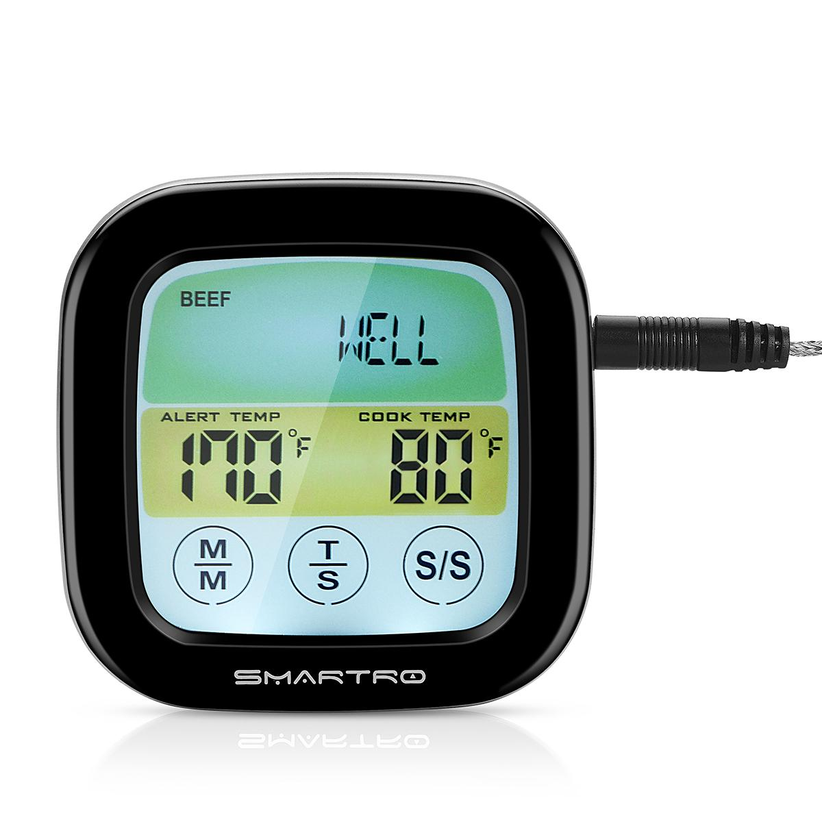Amazon.com: SMARTRO Blue Meat Thermometer Instant Read Food ...