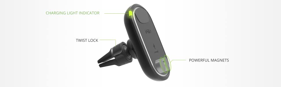 magnetic car mount air vent wireless charger