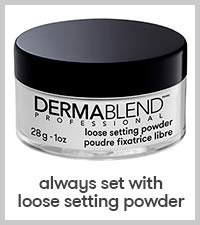 dermablend; loose setting powder; for face