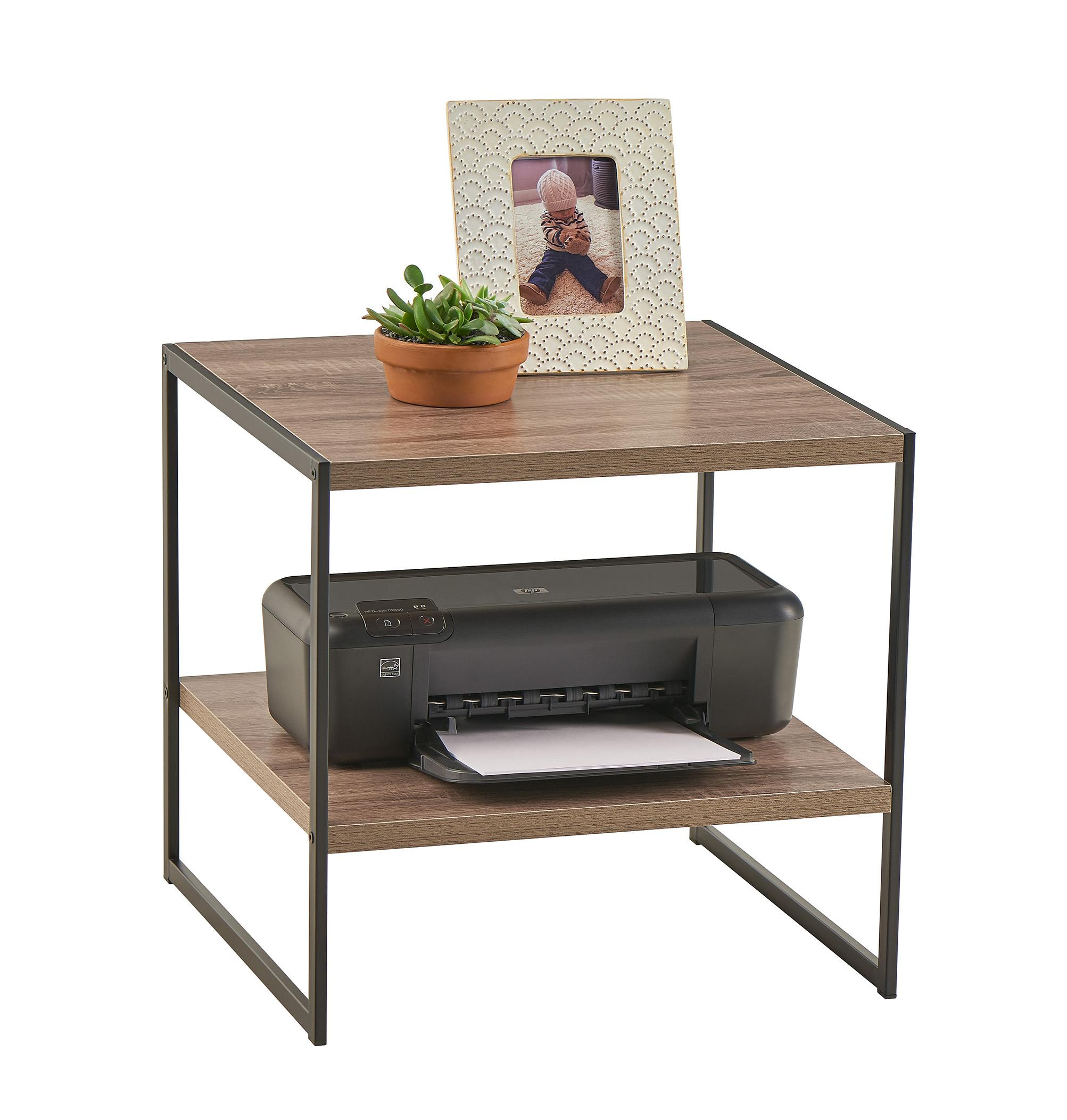 Amazon.com: ClosetMaid 1314 2-Tier Square Wood Side Table with ...