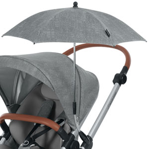 essential black modischer Sonnenschirm f/ür Kinderwagen mit UV-Lichtschutz 40 Plus Maxi-Cosi Parasol inklusiv Befestigungsclip