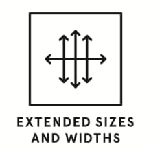Extended Sizes and widths
