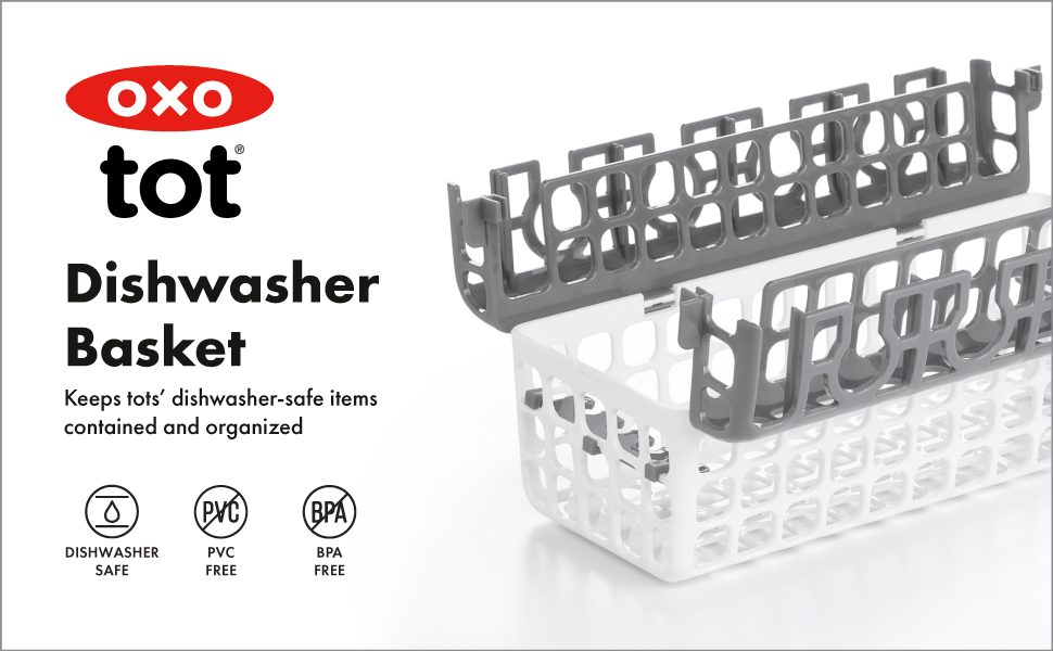 OXO Tot Dishwasher Basket - Gray