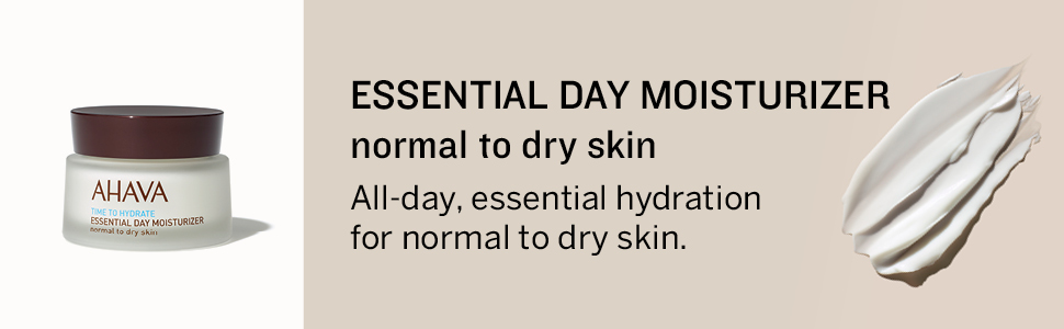 AHAVA, essemtial, day, moisturiser, normal to dry skin, face, facial, skin care, dead sea, minerals