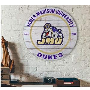 James Madison Dukes Classic Weathered Circle Sign
