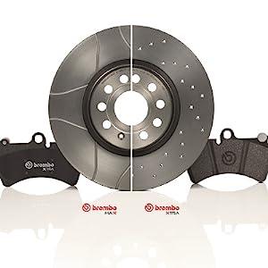 2 pièce BREMBO MAX sport Disques de frein 08.9084.75 arrière Phrase