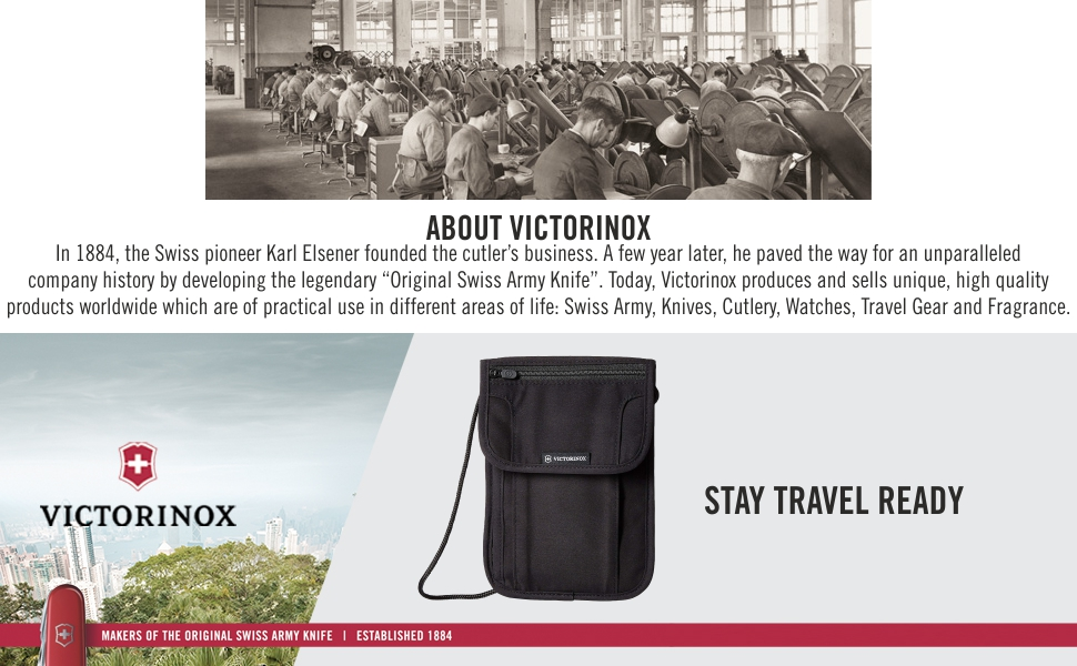 VICTORINOX Travel Accessories Black Neck Pouch (31171901)