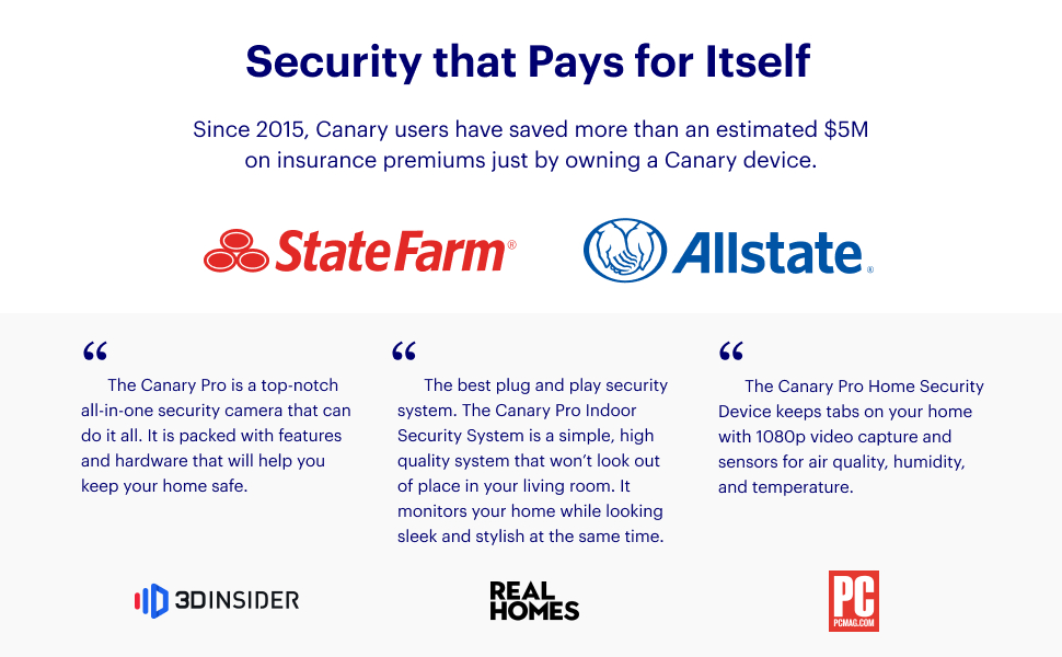 canary pro, insurance, home security camera