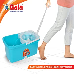 Easy wheel spin mop