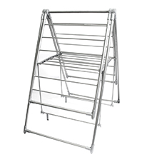 35 Metre '3-Fold Wing' Clothes Drying Airer Rack : Plastic-capped legs