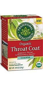 Traditional Medicinals Organic Throat Coat Eucalyptus Seasonal Tea