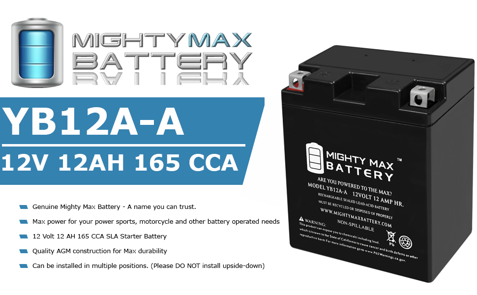 Motorcycle battery, 165 CCA battery, 12volt, 12 amp, battery for motorcycle, Seaed lead acid, SLA