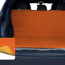 Salvabaule  per Auto 130x140cm con elastici arancio//giallo