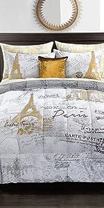 Amazoncom Pop Shop Voyager En Paris Bed In A Bag Twin Gold Home