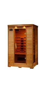 Amazon.com : Radiant Saunas BSA1320 4 Person Cedar Corner ...