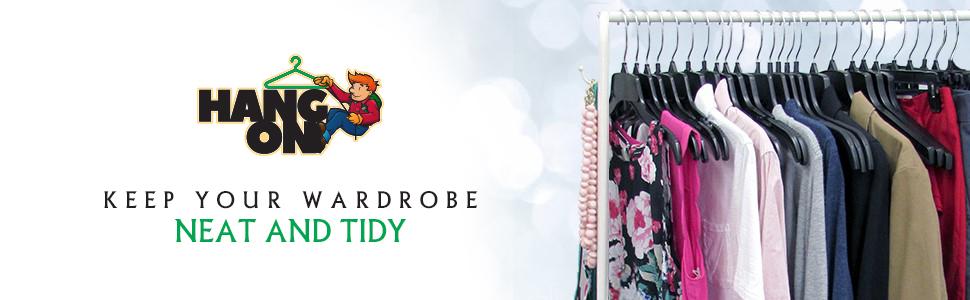cloth wardrobe hangers organizer shirt pant trousers dry wet hanging wooden plastic closet coat hook