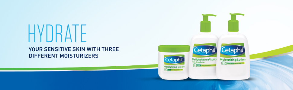 Cetaphil Hydrating Lotions and Creams for Sensitive Skin and Dry, Winter Skin