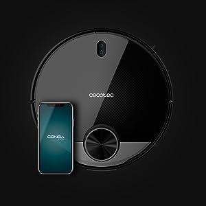 Cecotec 3490 Elite Robot Aspirador, Láser, Nivel de ruido <64 dB, Negro, autonomía de hasta 150 minutos: Amazon.es: Hogar