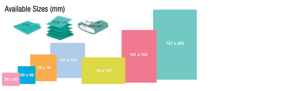 Post-It Notes Sizes