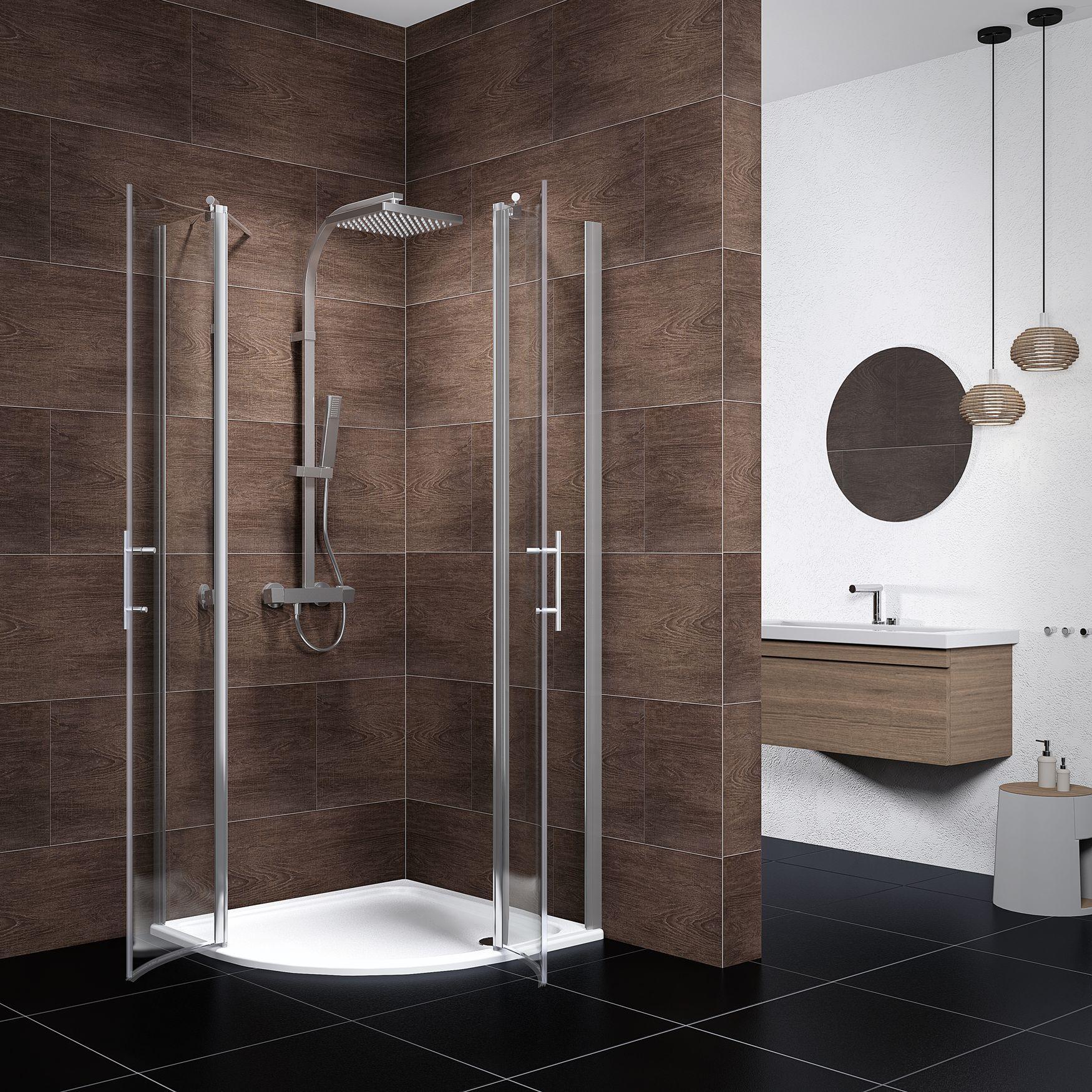 schulte duschkabine lazio 90x90 cm 192 cm radius 500 mm 5 mm sicherheitsglas klar. Black Bedroom Furniture Sets. Home Design Ideas