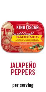 jalapeno, sardines, meal, snack
