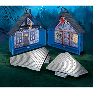 take along haunted house with removable flooring