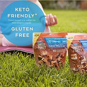 gluten free keto friendly snack salty dark chocolate caramel atkins low carb