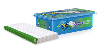 Refill with Flash Speedmop wet cloths