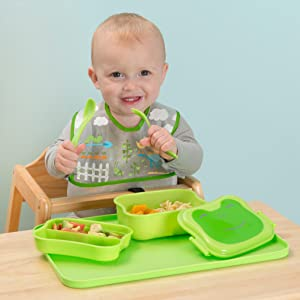 toddler; infant; baby; feeding; lunchbox; bento; snack; travel; bag; container; Tupperware