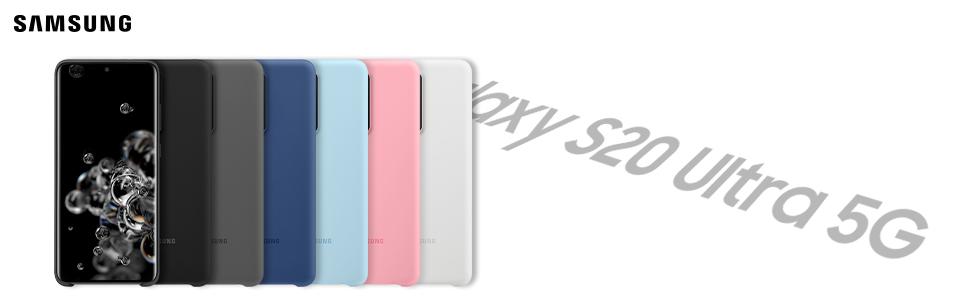 Samsung Silicone Smartphone Cover Ef Pg988 Für Galaxy S20 Ultra Handy Hülle Silikon Schutz Case Stoßfest Dünn Und Griffig Grau Elektronik