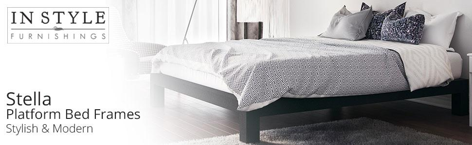 Amazon.com: In Style Furnishings Stella Modern Metal Low Profile ...